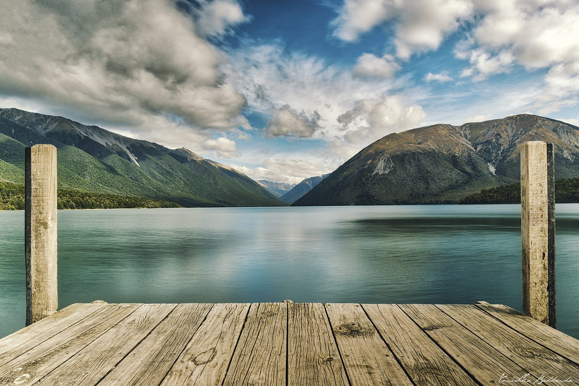 A serene day on Nelson Lake in the South Island of New Zealand.
